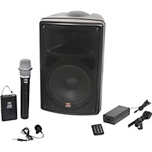 Open BoxGalaxy Audio TQ8-24VHN Traveler Quest 8 TQ8 Battery Powered PA Speaker With 2 Receivers, One Lavalier and One Handheld Microphone