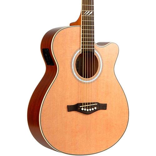 EKO TRI Series Auditorium Cutaway Acoustic-Electric Guitar Natural