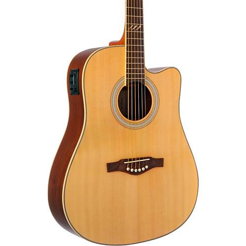 EKO TRI Series Dreadnought Cutaway Acoustic-Electric Guitar Natural