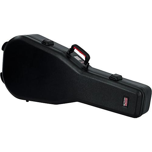 Gator TSA ATA Molded Acoustic Guitar Case Condition 1 - Mint Black Black