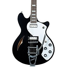 TSH-1B Semi-Hollow Body Electric Guitar Black Pearl