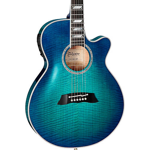 Takamine TSP178AC Flamed Maple Thinline Acoustic-Electric Guitar Transparent Blue Sunburst