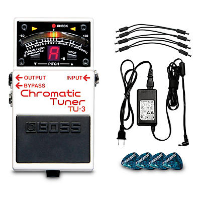 Boss TU-3 Chromatic Tuner Pedal Power Solution Bundle