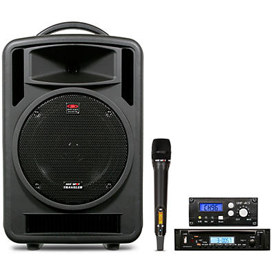 Galaxy Audio TV10-C010H000G Galaxy Audio Traveler 10 Portable PA System With CD Player, One Wireless Receiver, And One Handheld Microphone