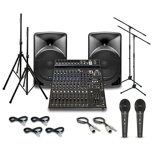 Alto TX15USB with Peavey PV14BT Mixer PA System