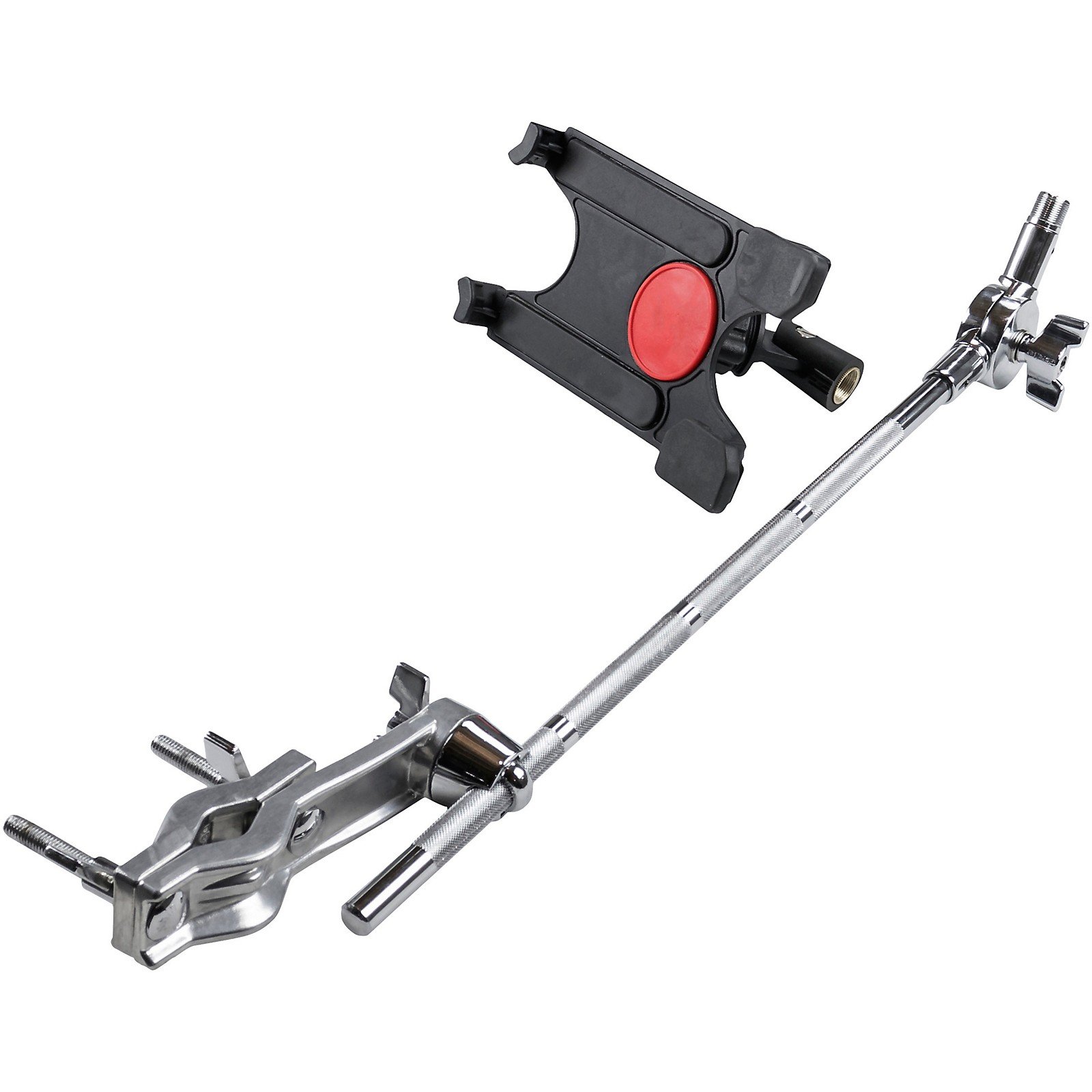 Gibraltar Tablet Mount with Long Boom Arm and Crabber Clamp