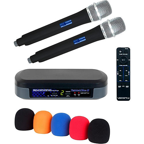 VocoPro TabletOke II Digital Karaoke Mixer with Wireless Mics, Bluetooth Receiver, and Mic Wind Screens (5) Condition 2 - Blemished  194744116278