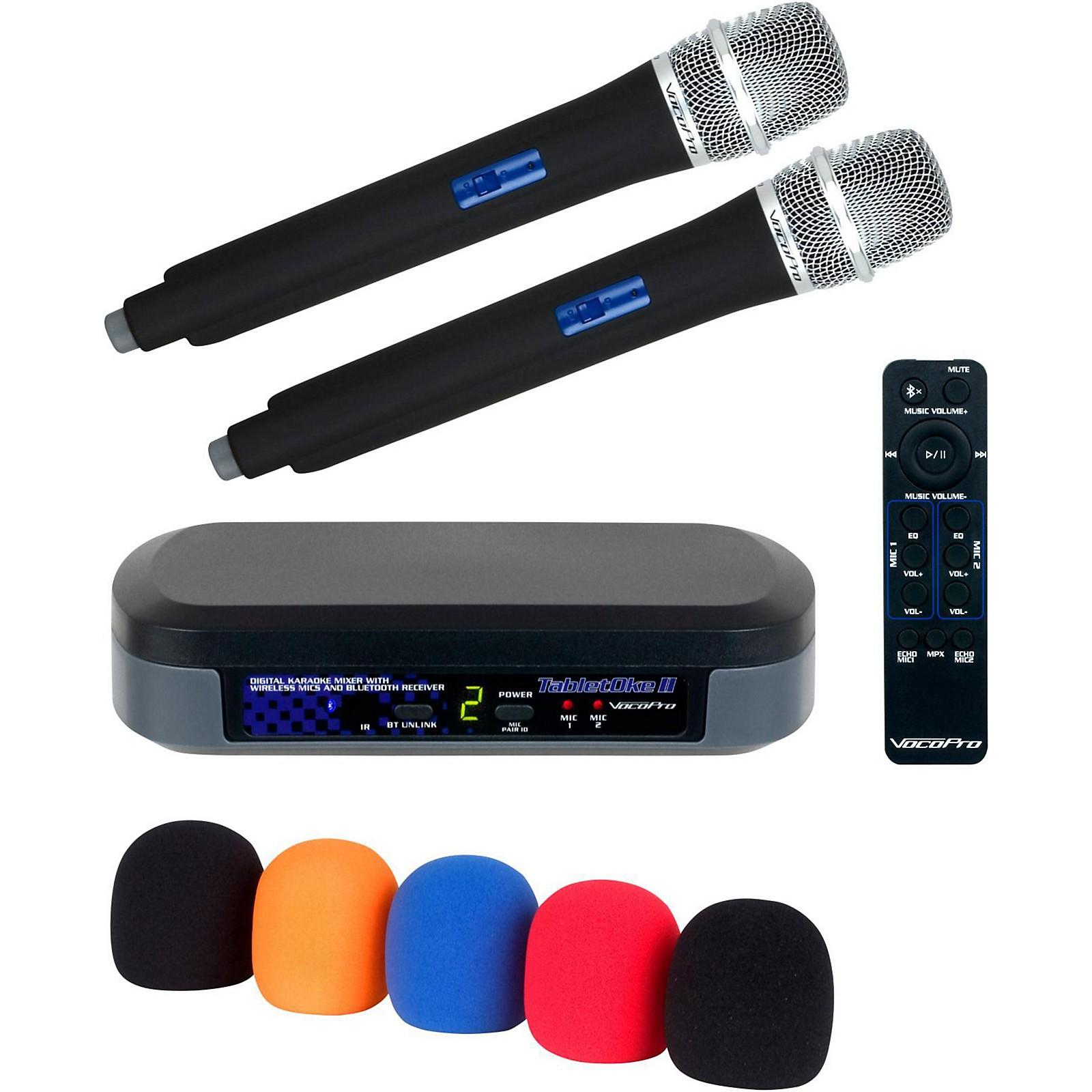VocoPro TabletOke II Digital Karaoke Mixer with Wireless Mics, Bluetooth Receiver, and Mic Wind Screens (5)