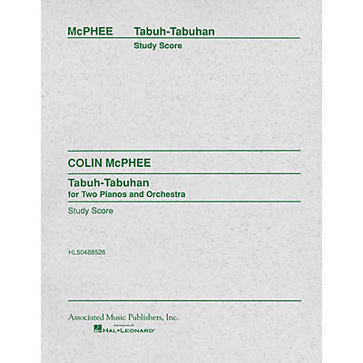 Associated Tabuh-Tabuhan (Full Score) Study Score Series Composed by Colin McPhee