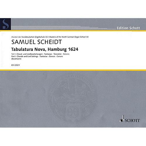 Schott Tabulatura Nova, Hamburg 1624 - Part 1 Organ Collection Series Softcover