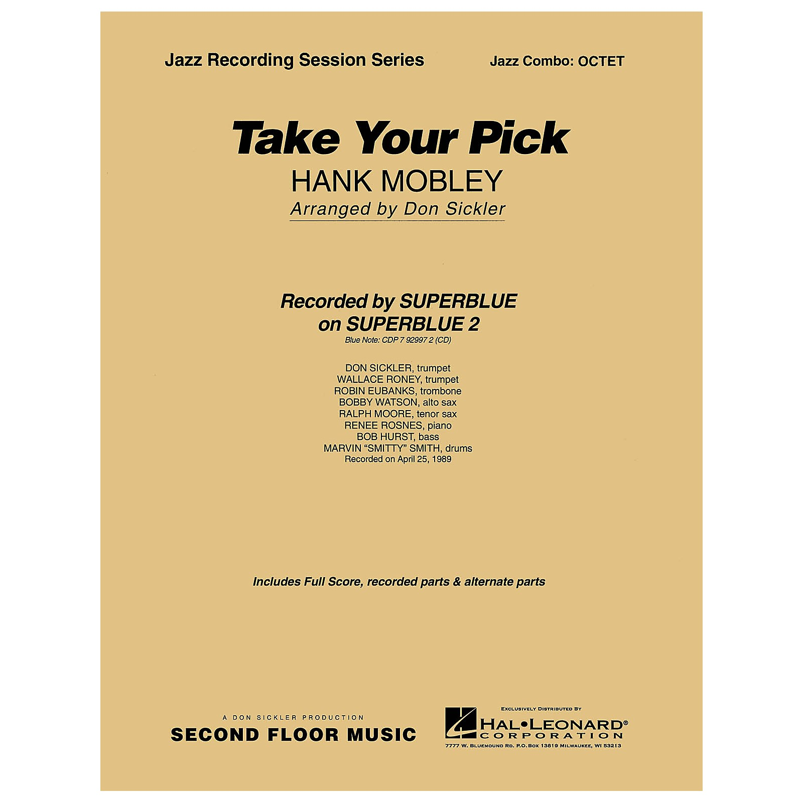 Second Floor Music Take Your Pick (Octet) Jazz Band Level 4-5 Arranged by Don Sickler