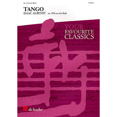 De Haske Music Tango for Alto Saxophone and Band Concert Band Level 2 Arranged by Wil Van der Beek