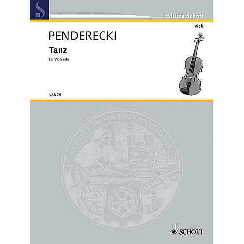 Schott Tanz (Viola Solo) String Solo Series Softcover