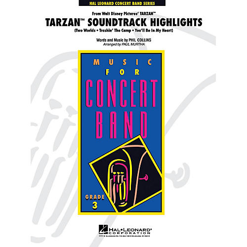 Hal Leonard Tarzan Soundtrack Highlights - Young Concert Band Series Level 3 arranged by Paul Murtha