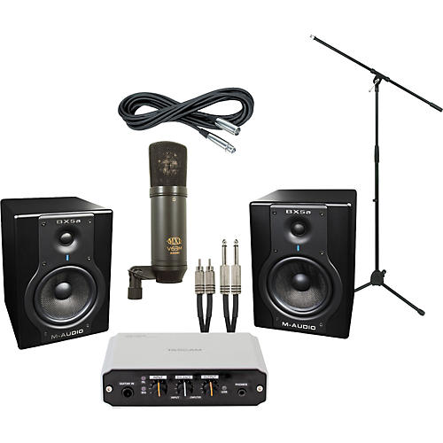 m audio tascam us 100 and m audio bx5a recording package musician 39 s friend. Black Bedroom Furniture Sets. Home Design Ideas