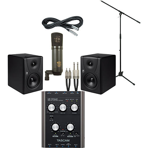 Mackie Tascam US-144 MKII and Mackie MR5 Recording Package
