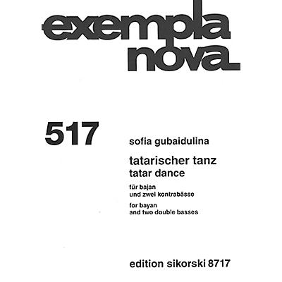 Sikorski Tatar Dance (for Bayan and Two Double Basses) Ensemble Series Softcover Composed by Sofia Gubaidulina