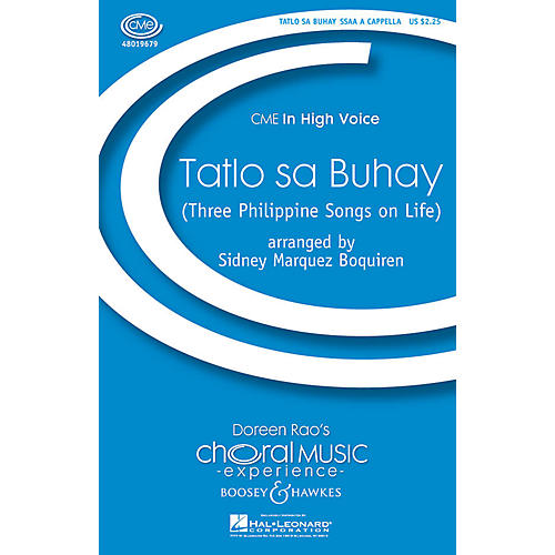 Boosey and Hawkes Tatlo sa Buhay SSAA A Cappella arranged by Sidney Marquez Boquiren