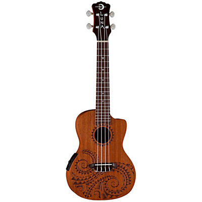 Luna Guitars Tattoo Mahogany Concert Acoustic-Electric Ukulele