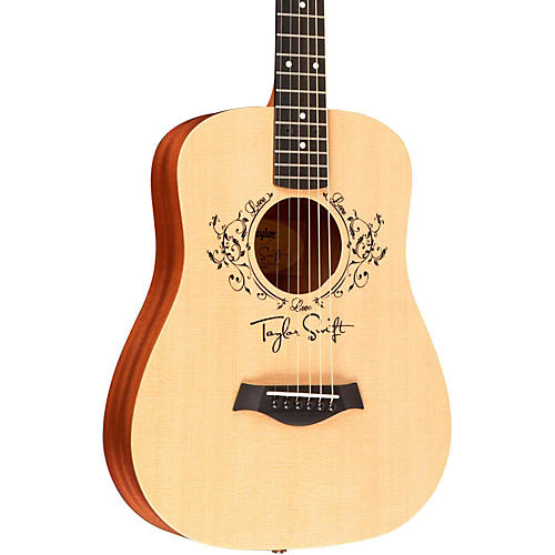 Taylor Taylor Swift Signature Baby Taylor Left-Handed Acoustic Guitar Natural 3/4 Size Dreadnought