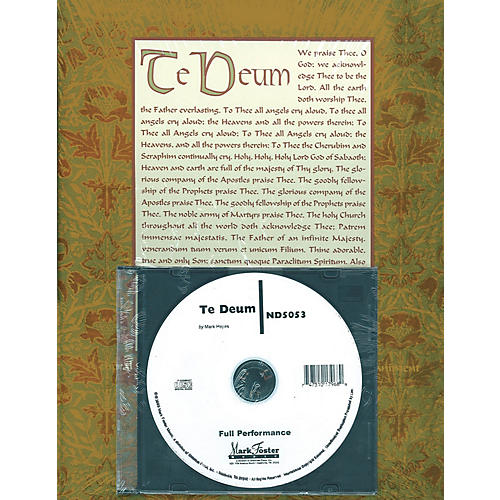 Shawnee Press Te Deum (Preview Pak (Book/CD)) Preview Pak composed by Mark Hayes