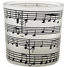 AIM Tea Light with Frosted Music Staff Candle Holder