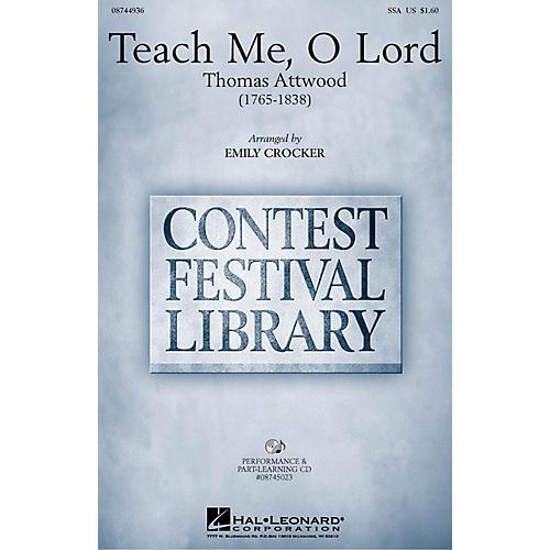 Hal Leonard Teach Me, O Lord VoiceTrax CD Arranged by Emily Crocker
