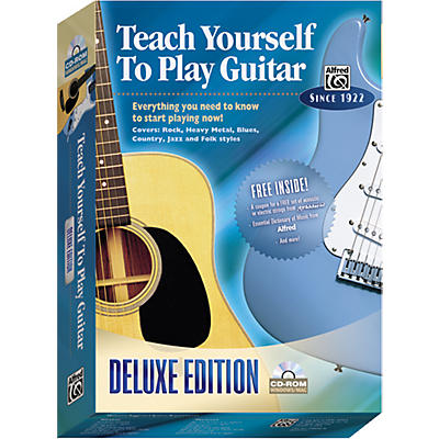 Alfred Teach Yourself To Play Guitar Deluxe Edition CD-ROM