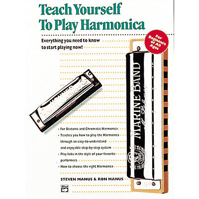 Alfred Teach Yourself To Play Harmonica Book/CD