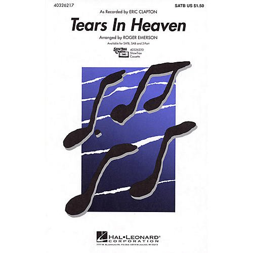 Hal Leonard Tears in Heaven 2-Part by Eric Clapton Arranged by Roger Emerson