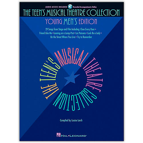 Hal Leonard Teen's Musical Theatre Collection - Young Men's Edition (Book/Online Audio)