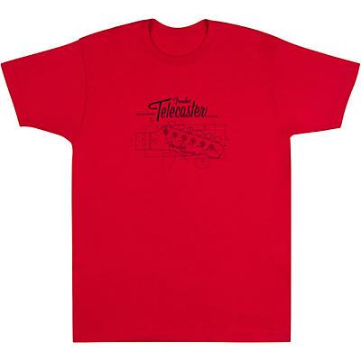 Fender Tele Headstock Blue Print T-Shirt