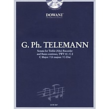 Dowani Editions Telemann: Sonata in C Major for Treble (Alto) Recorder and Basso Continuo TWV41:C2 Dowani Book/CD Series