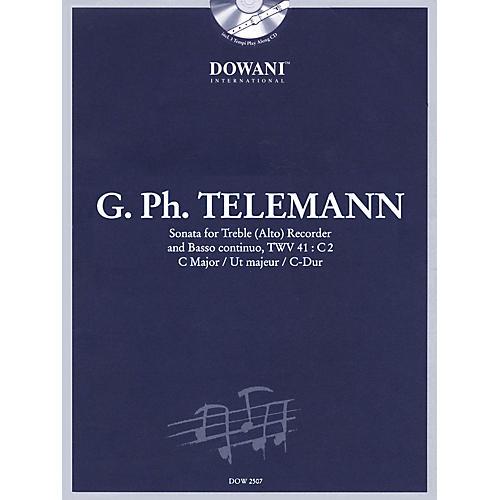 Dowani Editions Telemann: Sonata in C Major for Treble (Alto) Recorder and Basso Continuo TWV41:C2 Dowani Book/CD Series