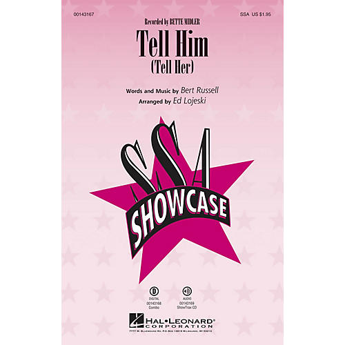 Hal Leonard Tell Him ShowTrax CD by Bette Midler Arranged by Ed Lojeski