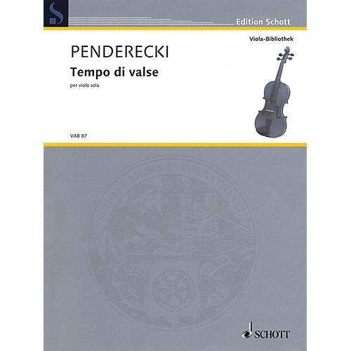 Schott Tempo di Valse (Viola Solo) String Solo Series Softcover