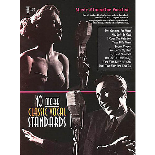 Music Minus One Ten More Classic Vocal Standards Music Minus One Series Softcover with CD  by Various