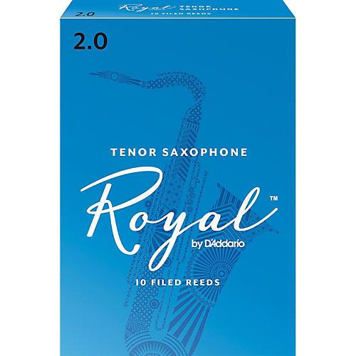 Rico Royal Tenor Saxophone Reeds, Box of 10 Strength 2