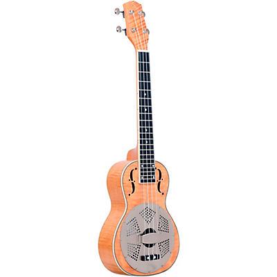 Gold Tone Tenor-Scale Curly Maple Resonator Ukulele with Gig Bag