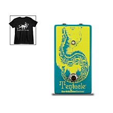 EarthQuaker Devices Tentacle V2 Analog Octave Up and Octoskull T-Shirt Large Black