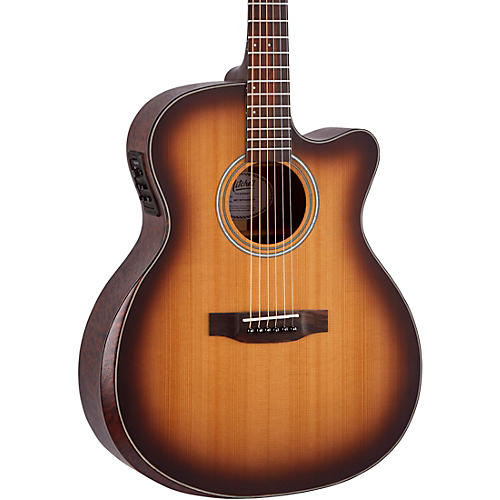 Mitchell Terra Series T413CEBST Auditorium Solid Torrefied Spruce Top Acoustic Electric Cutaway Guitar Edge Burst