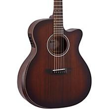 Open BoxMitchell Terra Series T433CEBST Auditorium Solid Mahogany Top Cutaway Guitar