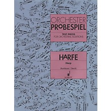 Schott Test Pieces for Orchestral Auditions Harp Schott Series Softcover