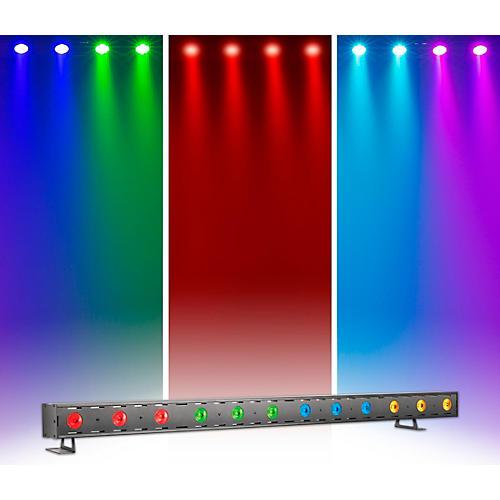 Venue Tetra Bar RGBA Linear Strip Wash Light with Four Color Zones Black