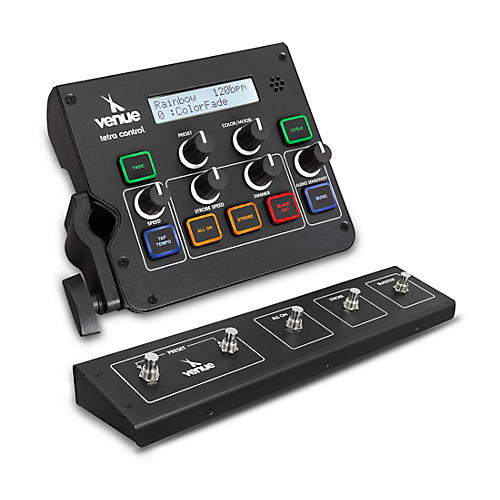 Venue Tetra Control Intuitive DMX Controller and Footswitch Black