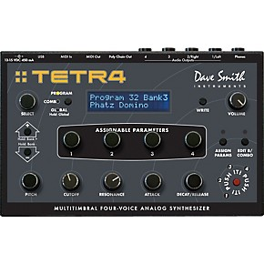 Dave Smith Instruments Tetra Multitimbral Four-Voice Analog Synthesizer