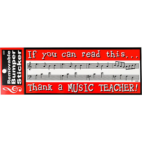AIM Thank A Music Teacher Bumper Sticker