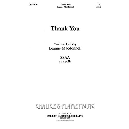 Hal Leonard Thank You SSAA composed by Leanne Macdonell