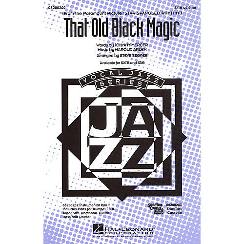 Hal Leonard That Old Black Magic Combo Parts Arranged by Steve Zegree
