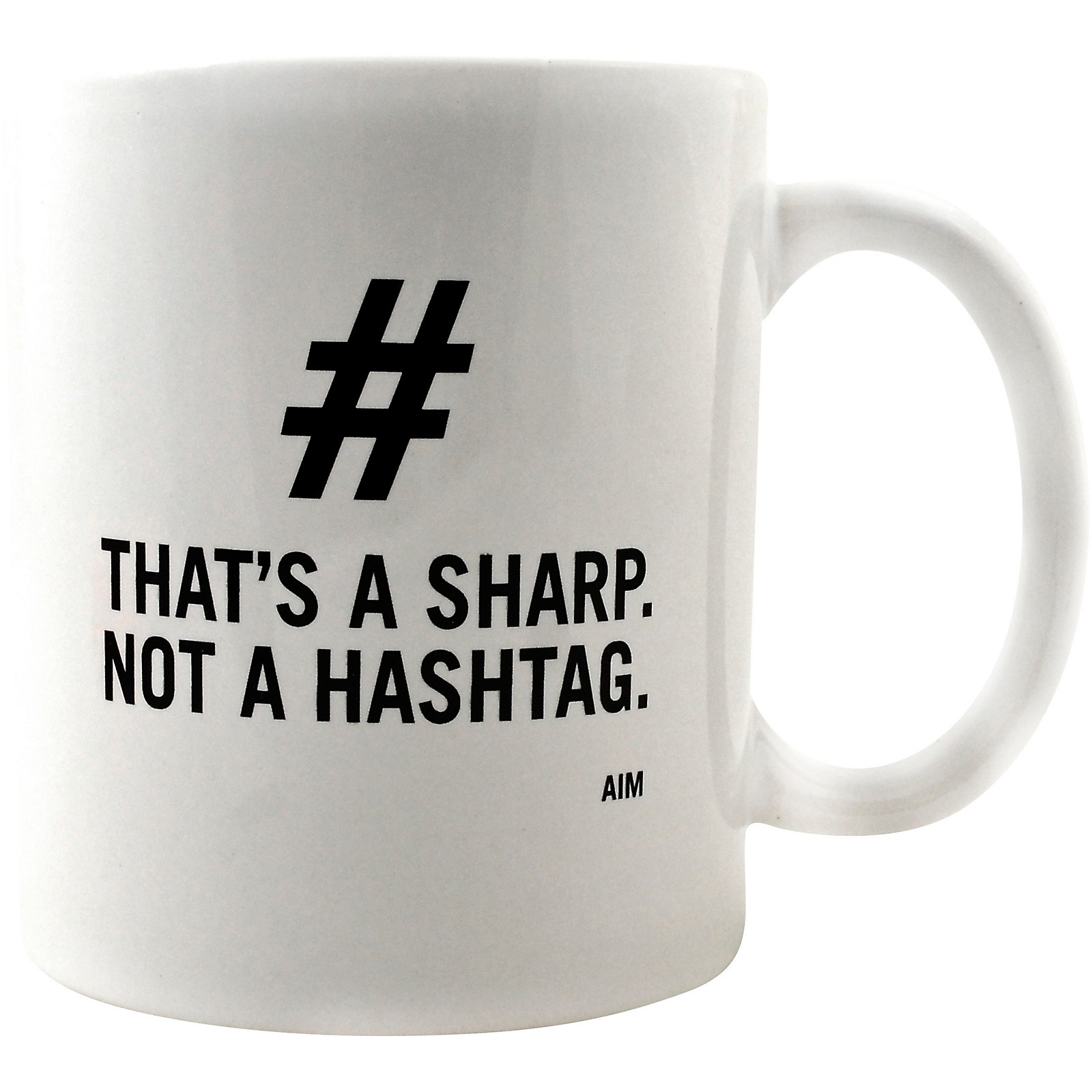 AIM That's a Sharp. Not a Hashtag. Mug